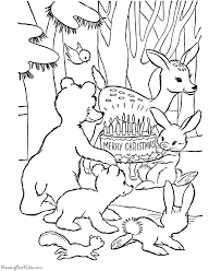 Animal Coloring Pages For Christmas