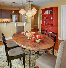 Fabulous Dining Room Hutch Adds Red To The Eclectic Setting Design Tracey Stephens Interior
