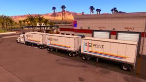 Triple Trailer In All Company • ATS Mods   American Truck Simulator Mods March 17th New Food Truck Radar The Wandering Sheppard Intertional 9800 For American Simulator Search Rv Inventory Freightliner Cascadia Swift Transportation Skin Mod Ats Mods Gonorth Car Camper Rental Scs Softwares Blog Mexico Map Expansion Will Arrive Low Slow Bbq I Am Famished Cruise America Large Model Catalog W Download Northern Lite Truck Camper Sales Manufacturing Canada And Usa Triple Trailer In All Company Simulator
