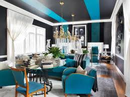 Teal Sofa Living Room Ideas by Teal Sofa And White Sheer Curtain For Gray Living Room Ideas Using