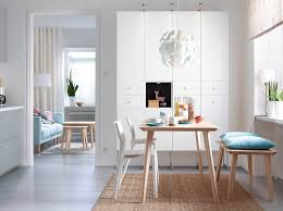 Fabulous White Modern Chair IKEA Dining Room Furniture Ideas Table Chairs Ikea