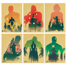 Vintage Superhero Wall Decor by Marvel And Dc Posters Pro Deal Hunters
