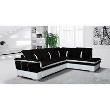 canap noir et blanc canapé d angle marion noir blanc angle droit achat vente canapé