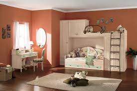Vintage Kid Bedroom Decoration Ideas With Retro Style Furnitures And Loft Bed Design For