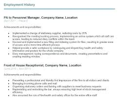 Sample Employment Resume Self Employed Examples Handyman