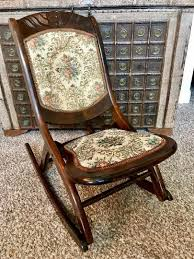 Antique Vintage Victorian Wood Youth Folding Rocker Rocking ... Antique Folding Oak Wooden Rocking Nursing Chair Vintage Tapestry Seat In East End Glasgow Gumtree Britain Antique Rocking Chair Folding Type Wooden Purity Beautiful Art Deco Era Woodenslatted Armless Elegant Sewing Side View Isolated On White Victorian La20276 Loveantiquescom Rocksewing W Childs Upholstered Solid Wood And Fniture Of America Betty San Francisco 49ers Canvas Original Box