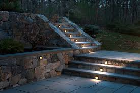 retaining wall patio traditional with lights