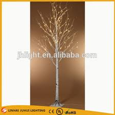 CHRISTMAS Warm White LED Birch Tree Indoor Outdoor SNOW