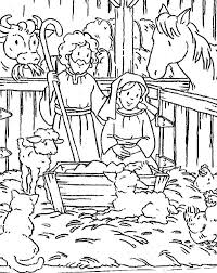 Christian Coloring Pages Jesus Born