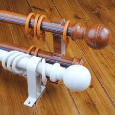 Cambria Curtain Rods Wood by How Do Converter Wood Curtain Rods