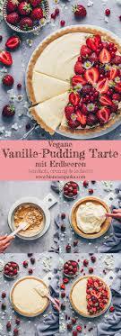 vanille pudding tarte mit erdbeeren