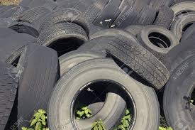 100 Used Truck Tires Pile Of Old Stocked For Recycling Stock Photo