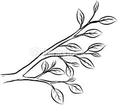 tree branch and leaves Vector Art