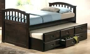 Twin Beds With Trundle Bed Storage Drawers Image Over Bunk