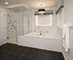 Menards White Subway Tile 3x6 by Subway Tile Bathroom Black Grout Bathroom Pinterest Black
