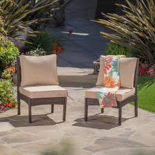 Noble House Honolulu Brown Armless Middle Wicker Outdoor Sectional ... Finally Fishing The Outdoor Chair Cushions Andrea Schewe Design Is Plastic Patio Fniture Making A Comeback Aci Plastics Giantex 4 Pcs Set Sofa Loveseat Tee Table 21 Ways Of Turning Pallets Into Unique Pieces Diy Free Plans Crished Bliss How To Clean Your And Clickhowto Buy Prettyia 16 Dollhouse Miniature Exquisite Long Bench Nuu Garden Bistro Antique Bronze Alinum Vienna Ding Chairs Space Pinterest Foothillfolk Designs Toms A Home Vintage Metal Redo Cheap For Find