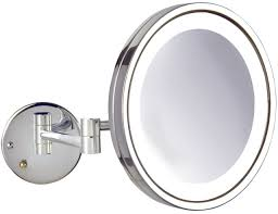 lighted makeup mirror wall mount battery operated home design ideas