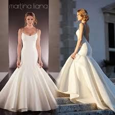2016 Simple Design Long Satin Mermaid Wedding Dresses y Backless