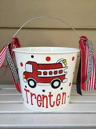 Personalized Halloween Trick Or Treat Bucket - Fire Truck//Engine ...