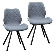 svita 2er set esszimmerstühle stühle küchenstuhl polsterstuhl stoff dunkelgrau anthrazit