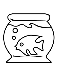 Fish Tank And Little Inside Coloring Page