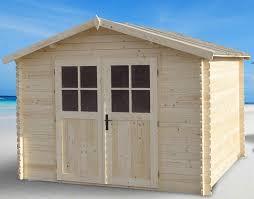chalet bois 10m2 petit abri de jardin 2m2 maisondours