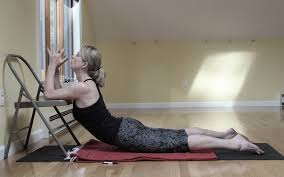 Youtube Chair Yoga Sequence by Bhujangasana Variation Iyengar Yoga Chair Back Bends Pinterest