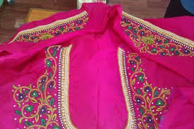 Simple Maggam Work Blouse Designs Hand Embroidery Stitches Flowers Aari