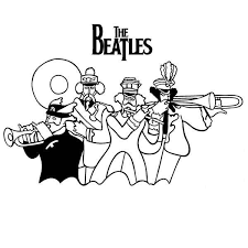The Beatles Musical Yellow Submarine Coloring Pages