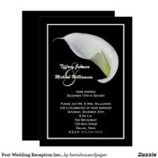 Post Wedding Reception Invitations