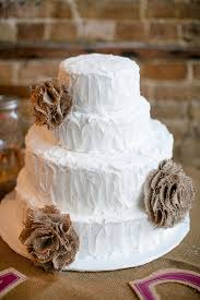 Burlap Wedding Cakes 10 With It 39 S A Piece Of Cake Rustic