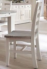 2er set esszimmerstühle kiefer massiv weiss white sanded