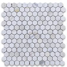 calacatta gold 1 inch hexagon mosaic tile polished marble from