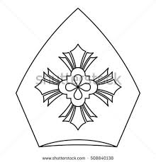 Pope Hat Icon Outline Illustration Of For Web