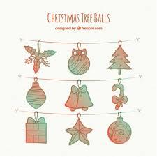Hand Drawn Christmas Ornament Drawing