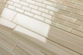 light brown 2x12 painted subway glass tile kitchen for