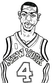 Nba Coloring Pages New York Knicks Player