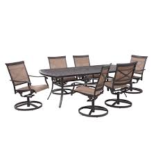 Hampton Bay Covina 7-Piece Aluminum Outdoor Dining Set-AS-J-252-3NR ... Art Fniture Inc Saint Germain 7piece Double Pedestal Ding Laurel Foundry Modern Farmhouse Isabell 7 Piece Solid Wood Maracay Set Rectangular Ding Table 6 Chairs Vendor 5349 Lawson 116cd7gts Trestle Gathering Table With Hampton Bay Covina Alinum Outdoor Setasj2523nr Torence 7piece Counter Height 7pc I Shop Now Mangohome Liberty Lucca Formal Two And Hanover Rectangular Tiletop Monaco Splat Back Chairs By Grayson Ash Gray Wicker Round
