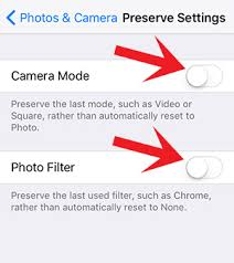 Preserve Your iPhone Camera Settings