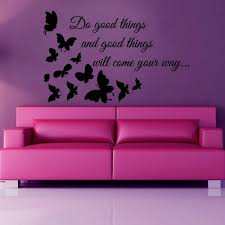 Butterfly Wall Decals Quotes Do Good Things Words Vinyl Sticker Living Room Home Decor