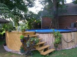 Above Ground Pool Ladder Deck Attachment by After Swimming Pool Diy Make Over Cover Up Of Above Ground Pool