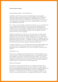 Brilliant Ideas Of 12 Resume Headlines Example Self Introduce Examples Resumes With