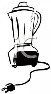 Clip Art Image A Black And White Blender