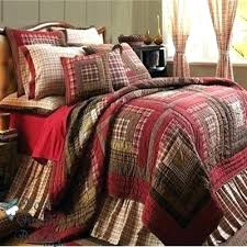 Bedspread Plaid Twin Quilt Set Comforters And Quilts Details About Red Rustic Log
