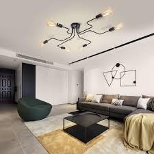 edislive vintage deckenleuchte industrie kronleuchter le pendelleuchte leuchte für schlafzimmer wohnzimmer cafe hotel bar schwarz 6 flammig