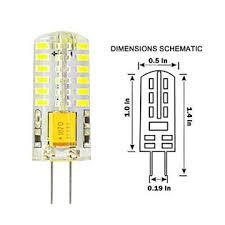 rayhoo 6pcs g4 base 48 led bulb ls 3 watt ac dc 12v non