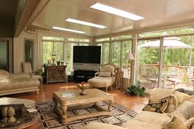 Interior DesignFurniture Decorate Sunroom Ideas With Sectional And Design Delectable Photo Sun Room