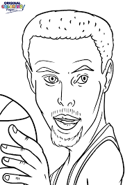 Bring All Of His Amazing Skills Success And Fame To Life Through The Stephen Curry Coloring Page Below