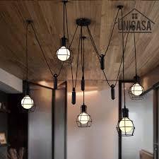 large pendant lights black iron industrial lighting bar office