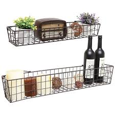 Wine Kitchen Decor Sets by Amazon Com Set Of 2 Brown Country Rustic Wall Mounted Openwork